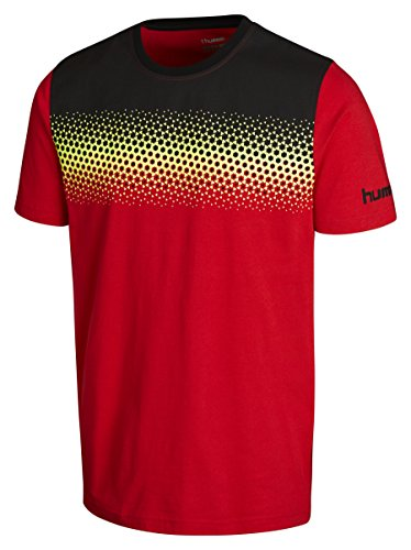 Hummel Jungen T-Shirt Rebel Gradient Tee, Flame Scarlett, 176, 08-642-3015 (Rebel Kind Shirt)