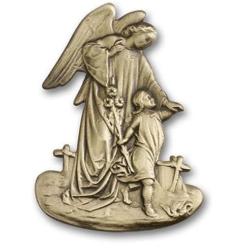 Icecarats Designer Di Gioielli In Oro Antico Angelo Custode Visiera Clip 2 X 1 1/2 Pollice - Angelo Visiera Clip