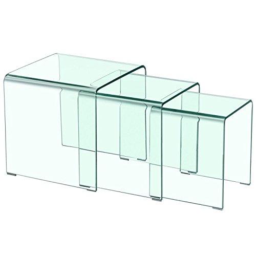 Paris Prix - Table Basse Gigogne Bellezza 42cm Transparent