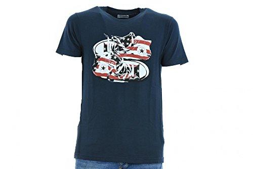 CONVERSE Man T-Shirt m / c 10005046-A01 T-SHIRT SS CREW CT STARS & BARS Blu