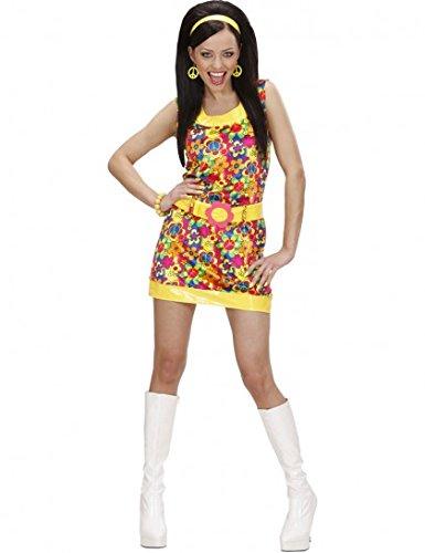 Widmann 73263 - Erwachsenenkostüm Peace & Love Girl, Gr. (Hippie Erwachsene Child Kostüme Love)