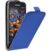 mumbi Flip Case für Samsung Galaxy S5 Mini Tasche blau