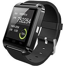 Smartwatch Reloj U8 Pantalla Táctil Bluetooth 3.0 Teléfono Compañero para Android Móvil Samsung Soporta Español (Negro)