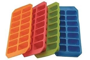 Green Apollo Quality Silicon Ice Cube Tray Easy Release by Apollo