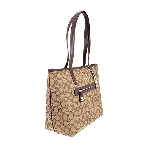 Coach , Damen Schultertasche Light Gold/Khaki/Brown