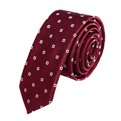 Zhhlinyuan Corbata Hombre roja blanca Multicolores Moda Clasica Elegant Tie 5cm Business Necktie for Men for Husband for Wedding Party - Multi Patterned