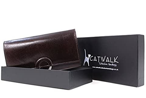 Catwalk Collection Leather Purse - Odette - Brown