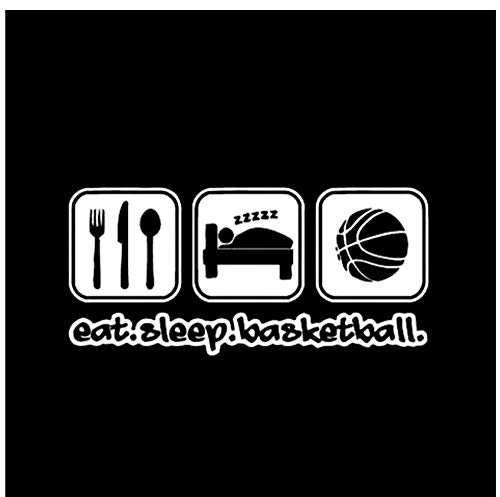 16 * 7,5 CM Mode Eat Sleep Basketball Decor Auto Aufkleber Extreme Bewegung Schwarz/Silber Vinyl Grafik (5 PS) -