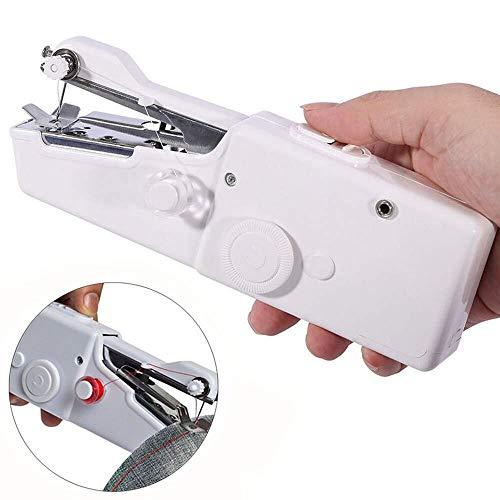 Mini Máquina de Coser Portátil , Lzhoo herramienta de costura manual portátil con bobina extra y aguja y enhebrador para tela, ropa o herramientas caseras