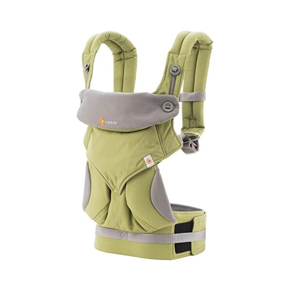 Ergobaby baby carrier collection 360 (5.5 - 15 kg), Green Ergobaby 4 ergonomic wearing positions: front-inward, front-outward, hip and back carry Structured bucket seat keeps baby seated in the anatomically correct frog-leg position Exceptionally comfortable thanks to adjustable, extra-wide waistband to support the lower back 1