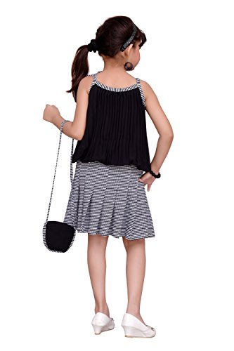 ADIVA Girl's Party Wear Dress for Kids (G_1122_Black_40)