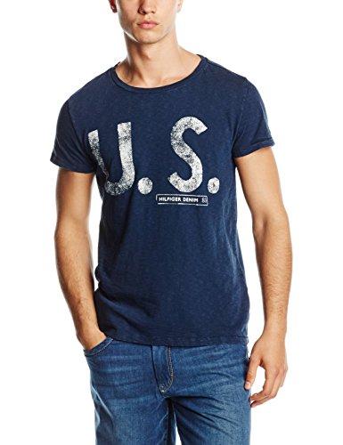 Hilfiger-Denim-Thdm-Cn-T-Shirt-SS-8-Camiseta-para-Hombre