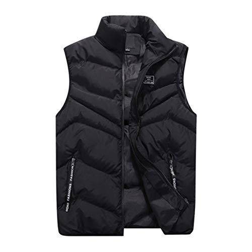 Wolfleague Homme Casual Chaud Doudoune Gilet sans Manche Blouson Veste Hiver Couleur Pure Gilet Veste Top Coat de Poche Tops Outwear Blouse Sweat Chic
