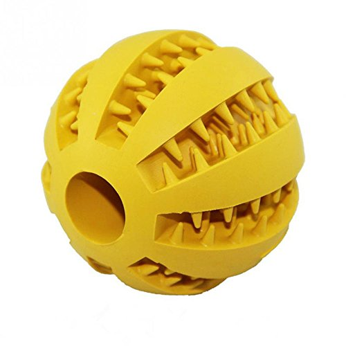 Allbusky - Palla rimbalzante in gomma, gioco per animali domestici, resistente, masticabile