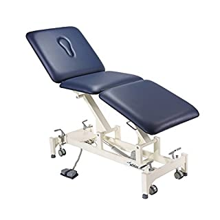 Addax Hydraulic Treatment Couch - 3 Sections Blue - Physiotherapy, Osteopathy