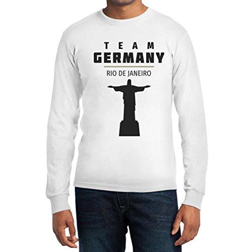 Fanartikel Olympics Team Germany 2016 Rio De Janeiro Jesus Langarm T-Shirt Weiß