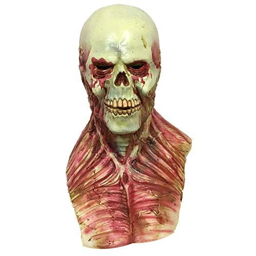 Toogoo horror alieno di sangue zombie maschera di fusione adulto lattice costume di halloween prop spaventoso
