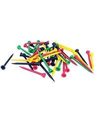 50pcs Colores Mezclados Plástico Graduaron Tees De Golf Accesorios Golfista 80mm