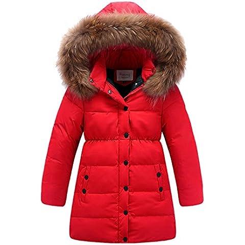 Piumino Bambino Invernale Giacca Bambina Impermeabile Piumino lungo Cappuccio Cappotto