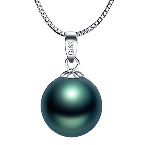 Valentinstag Geschenke Fashion Halskette Damen-mit Anhänger 925 Sterling Silber Tahitianischen Perlen Schwarz Tahiti Perlenkette
