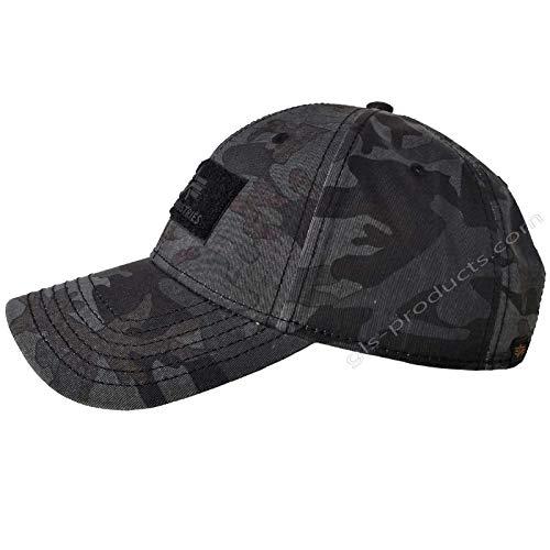 Alpha Industries VLC Cap Streetwear Basecap verstellbar, Farbe:Black camo