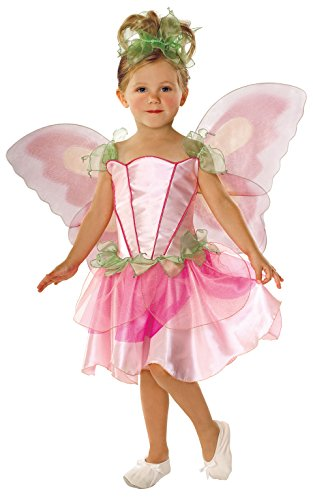Tinkerbell Standard Kind Kostüm - Feen-Kostüm für Mädchen, Feen, mit Flügeln, Rosa