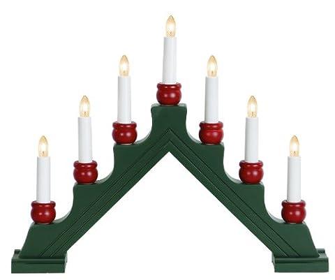 Star 276-71 Karin-7 Chandelier 7 Ampoules Claires Bois Vert/Rouge 35