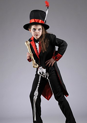 Kinder Halloween-Voodoo-Skelett Kostüm Large - Voodoo Kostüm Kinder