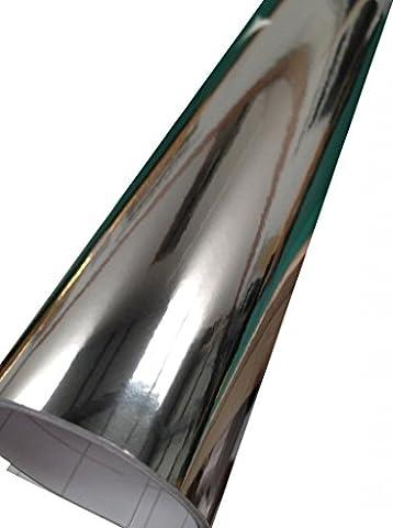 Film Vinyle Chrome Miroir pour Voiture 152cm x 40cm Argent