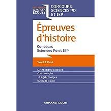 Epreuves d'histoire - Concours Sciences Po et IEP
