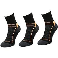 COMODO® BIK1 - Set de 3 PERFORMANCE BIKE Calcetines de Ciclismo (Bici de montaña Racing Bicicleta de trekking), Comodo/Mondo-Calza Farbe:Black / orange;Comodo/Mondo-Calza Größen:43-46