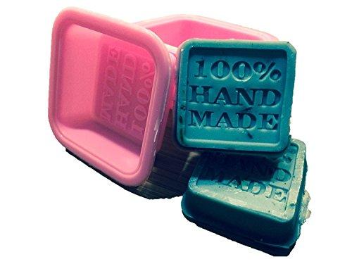 Nicebuty (10-Pack) Savon Moules – 100% fait main carré en silicone – Sapone
