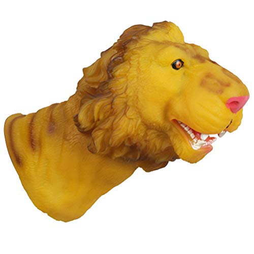 STOBOK Animal Hand Puppet Kids Animal Lion Gloves Animal Head Figure Toys