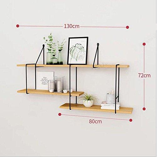 Shelves DUO Bücherregal Regal Wandhalterung von 3 Tier Soid Holz Regale für Schlafzimmer, Wohnzimmer, Bad, Küche, Büro und mehr 4 Größen Hängeregal, (größe : 130cm)