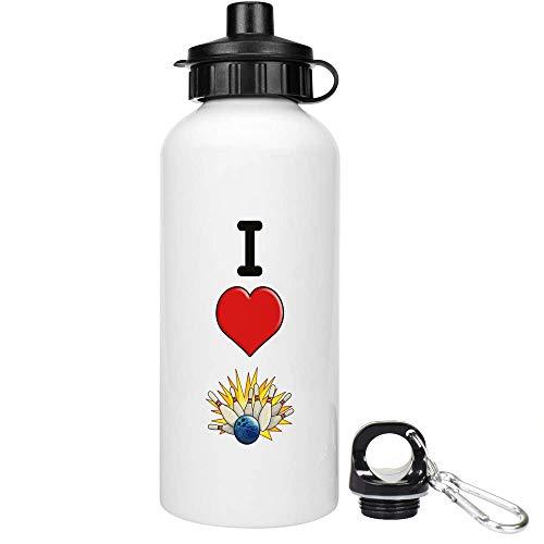 Stamp Press 600ml 'I Love Bowling' Trinkflasche / Wasser-Flasche (WT00001130)