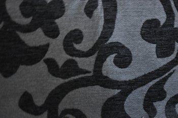 Stoff-ConneXion Hochwertiger Polsterstoff GP 22,80 €/m Thermostoff Ornament schwarz/grau
