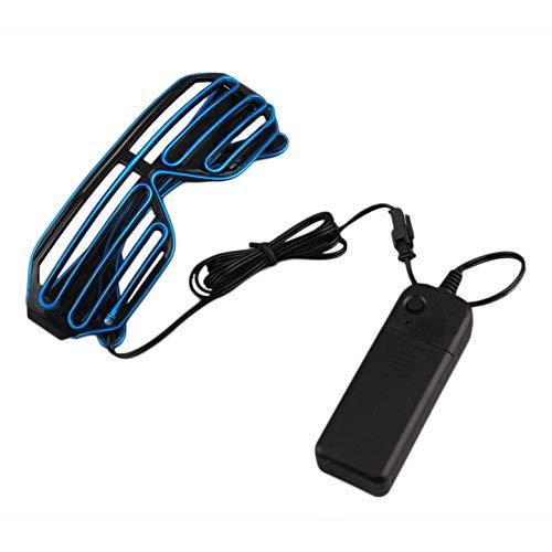 Einfach zu tragen, Reiten LED-Brille leuchten Schatten blinkende Rave für Hochzeitsfest Indoor-Outdoor-Nacht zeigt Aktivitäten