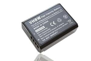 vhbw Akku 800mAh für Canon EOS 1200D, 1100D, 1100 wie ersetzt LP-E10, LP-E 10.