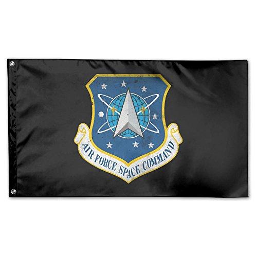 UDSNIS Army Aviation AST Garden Flagge 3x 5Flagge für Outdoor Deko Banner Schwarz, Unisex, Dnue Air Force Space Command, One Size