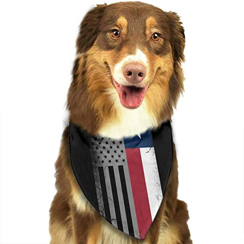 Sdltkhy American Texas Flag Pet Dog Cat Bandanas Triangle Bibs Pet Scarf Dog Neckerchief Headkerchief Pet Accessories