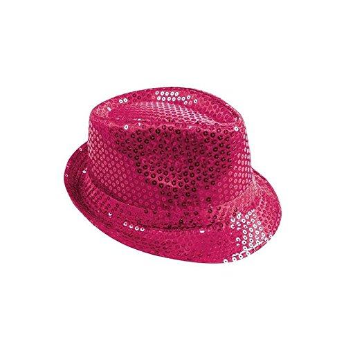 P 'tit payaso sombrero tejido lentejuelas adulto-Borsalino