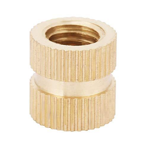 5 Stücke B Typ Einzeldurchgang durch Sackloch Einformmutter Messing gerändelt mit Gewinde Einpressmuttern(M8*16 * 12(5pcs))