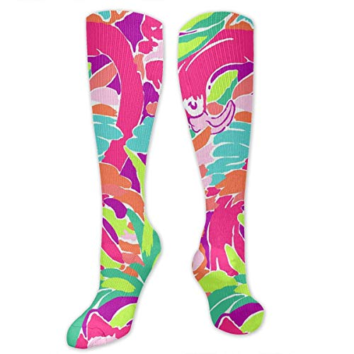 DGHKH Lilly Pulitzer Unisex Knee High Sports Athletic Socks Polyester Tube Long Stockings Lilly Pulitzer Kinder