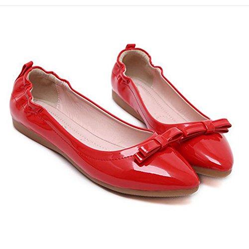 Femmes Filles Été L'Automne Mode Chaussure Bateau Chaussures Rouge