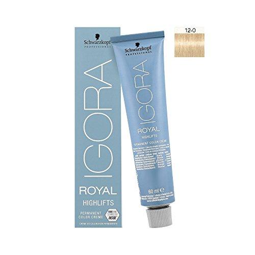 Schwarzkopf IGORA Royal Highlifts permanent creme Color 12-0, 1er Pack (1 x 60 ml) (Farbe Natur-permanente Haar)