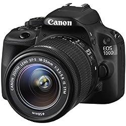 Canon EOS 100d + EF-S IS STM 18-55mm + EF STM 40mm Jeu de caméra SLR 18MP CMOS 5184x 3456pixels Noir-Appareil photo numérique (18MP, 5184x 3456pixels, CMOS, Full HD, écran tactile, Noir)