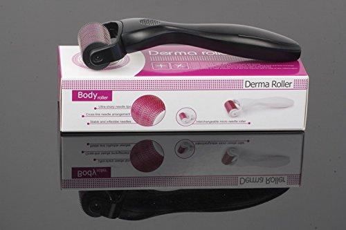 Body Dermaroller 1200 Mikronadeln / 2,5 mm Nadellänge - für Körper, Aknenarben, Cellulite - stimuliert die Durchblutung