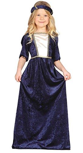 (Guirca–Kostüm Dame mittelalterlichen, Gr. 7–9Jahre (85598.0))
