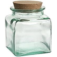 Vidrios San Miguel- Tarro de vidrio reciclado cuadrado 0,25l.