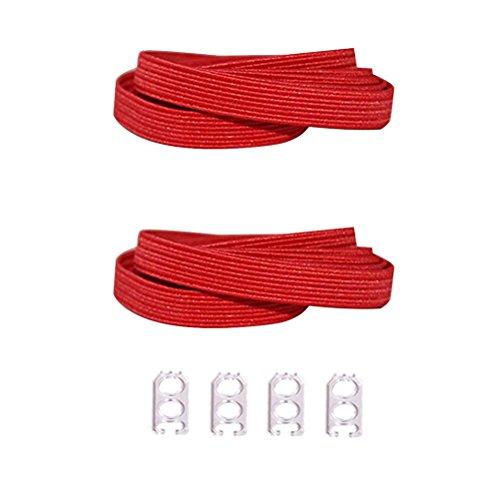 D&D No atar los cordones de los zapatos para niños y adultos - cordones elástica plana reemplazo cordón para el Athletic running zapatilla botas zapatos zapatos casuales de la Junta